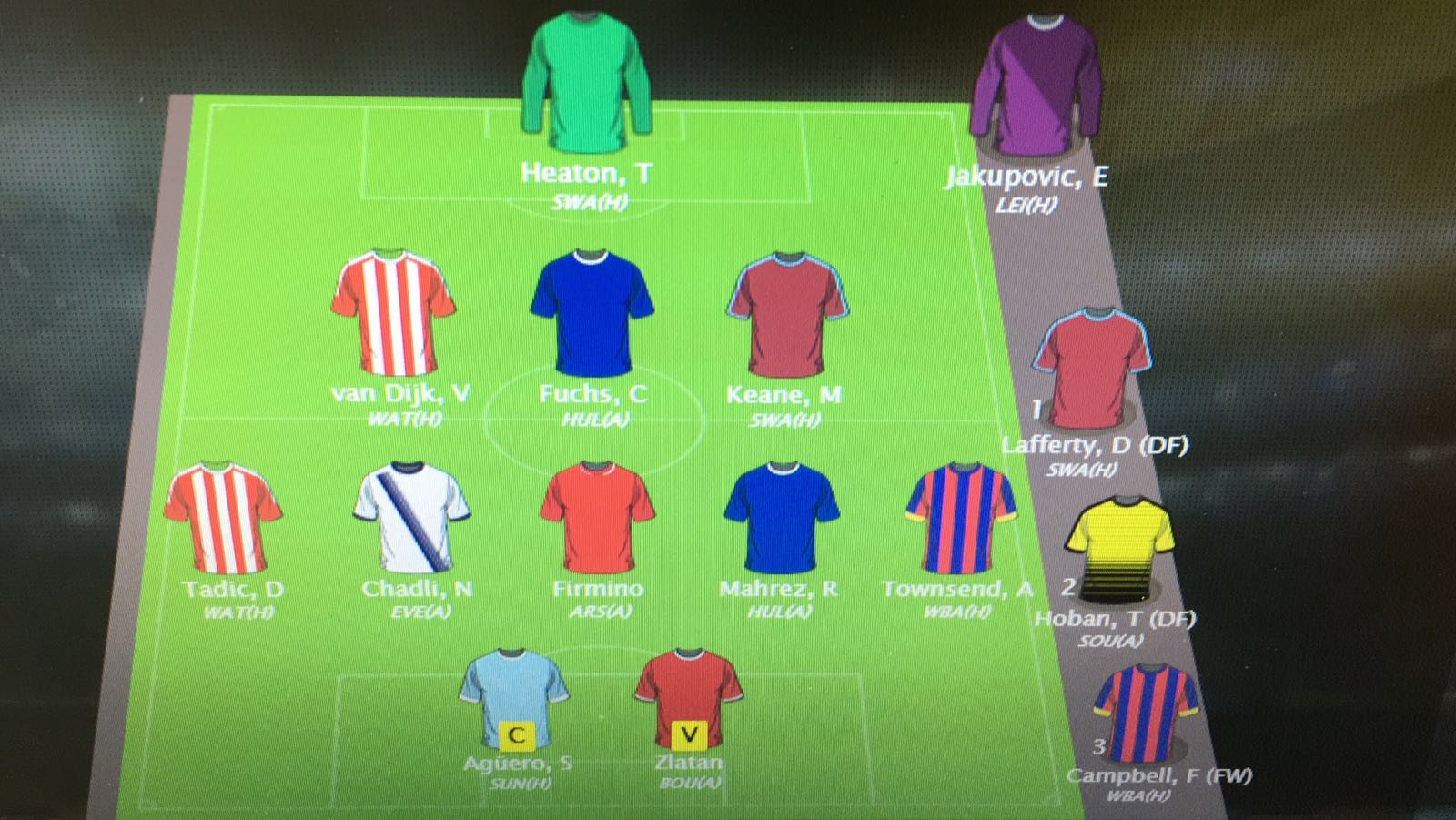Sjons Fantasy Football Team voor Premier League speelronde 1